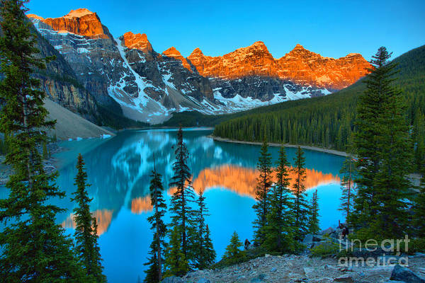 Photograph - Brilliant Moraine Lake Sunrise Reflections 2019 by Adam Jewell