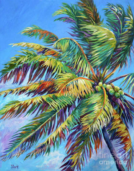 Wall Art - Painting - Brilliant Palm by John Clark