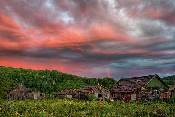 Wall Art - Photograph - Brilliant Skies Over A Ghost Town Near Steamboat Springs Colorado by Dave Dilli