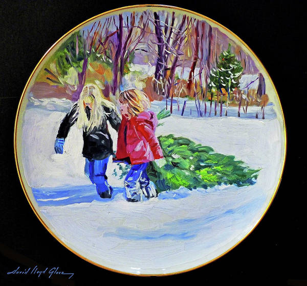 Painting - Bringing Home The Christmas Tree by David Lloyd Glover