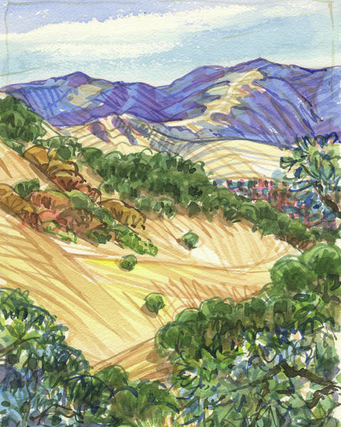 Painting - Briones From Mount Diablo Foothills by Judith Kunzle
