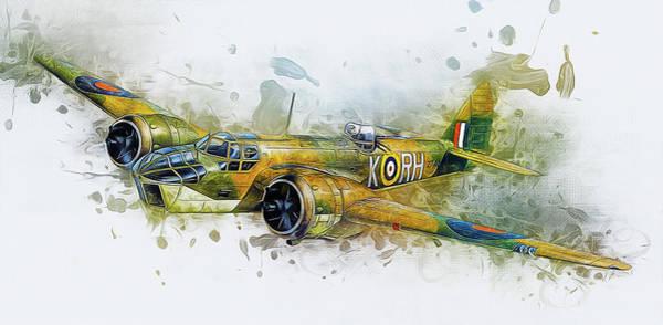 Mixed Media - Bristol Blenheim Bomber by Ian Mitchell