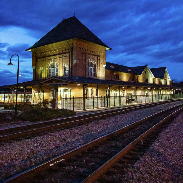 Photograph - Bristol Depot Twilight by Dale R Carlson