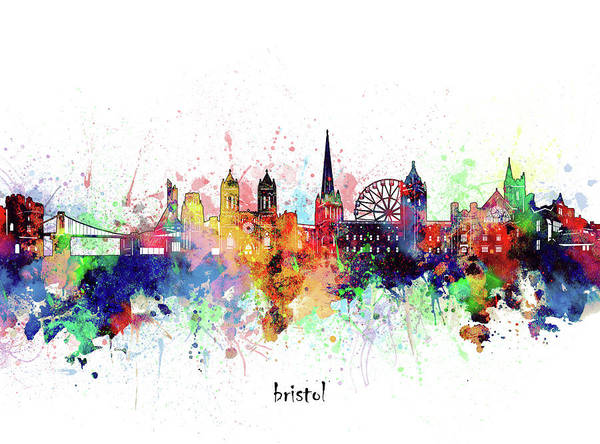 Wall Art - Digital Art - Bristol Skyline Artistic by Bekim M
