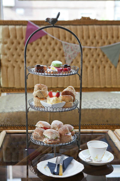 Tea Photograph - British Afternoon Tea Spread With by Emma Gutteridge