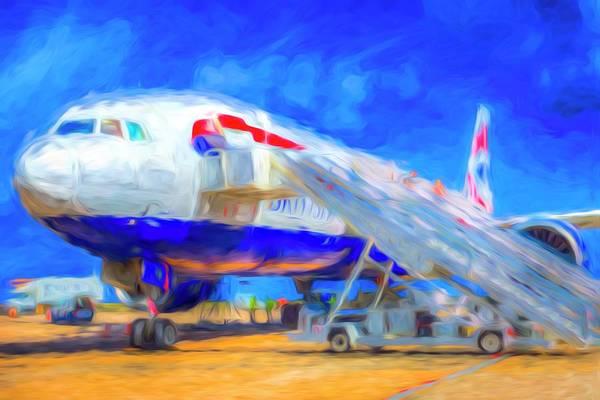 Wall Art - Photograph - British Airways Airliner Art by David Pyatt