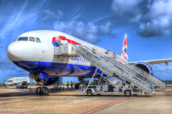 Wall Art - Photograph - British Airways Boeing 777 Barbados by David Pyatt