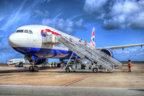 Wall Art - Photograph - British Airways In Barbados by David Pyatt