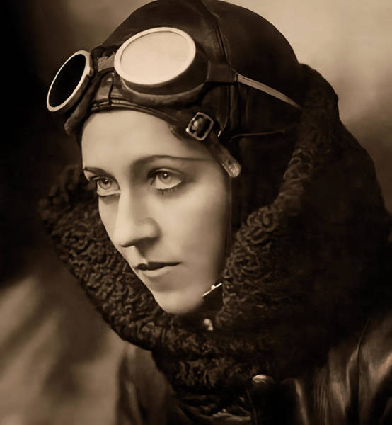 Wall Art - Digital Art - British Aviatrix Amy Johnson C. 1930 by Daniel Hagerman