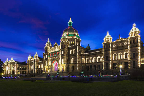 Vancouver Island Photograph - British Columbia Parliament Building by Walter Bibikow