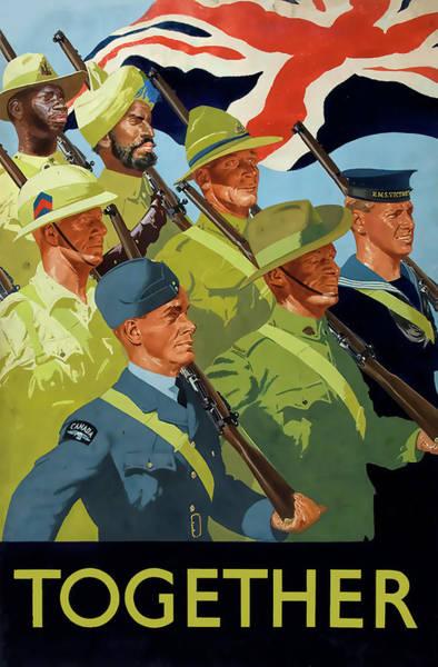 Wall Art - Photograph - British Empire Servicemen - World War Two by Daniel Hagerman