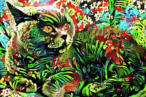 Digital Art - British Shorthair Jungle Cat by Peggy Collins
