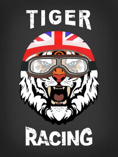Photograph - British Tiger Racing by Mark Rogan