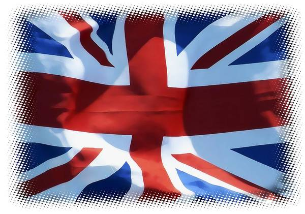 Wall Art - Digital Art - British Union Jack Flag T-shirt by Daniel Hagerman