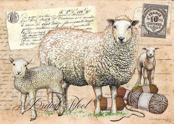 Digital Art - British Wool by Terry Kirkland Cook