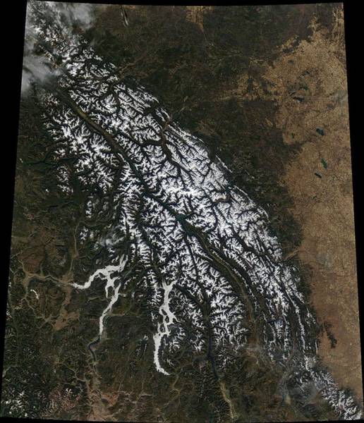 Wall Art - Painting - Britishcolumbia From Space by Celestial Images