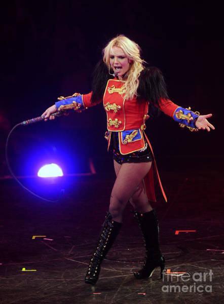 Britney Spears Kicks Off Her Circus Art Print