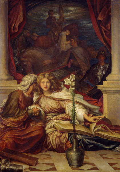 Wall Art - Painting - Britomartis by George Frederic Watts