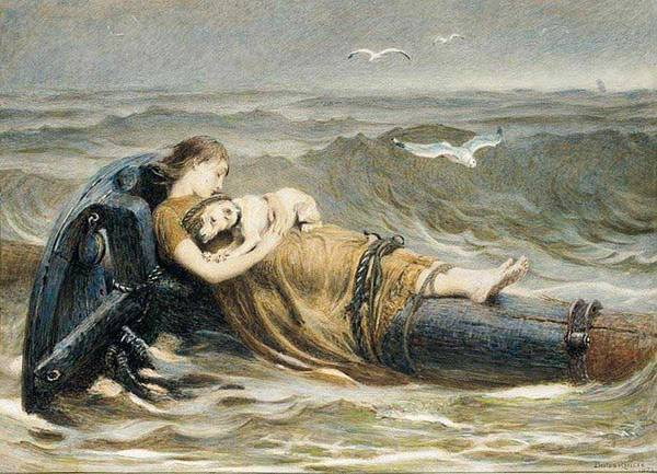 Wall Art - Painting - Briton Riviere  1840-1920 , All That Was Left Of The Homeward Bound - 1873 by Celestial Images