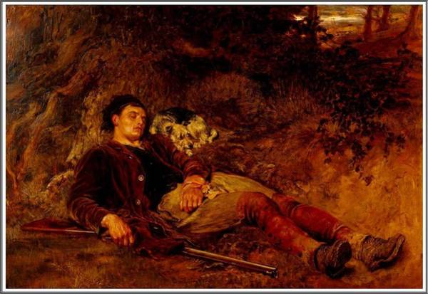 Wall Art - Painting - Briton Riviere  1840-1920   Companions In Misfortune   1883 by Celestial Images