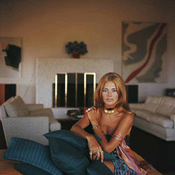 Square Photograph - Britt Ekland by Slim Aarons