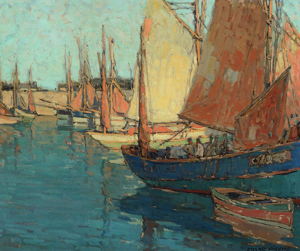 Wall Art - Painting - Brittany Boats, 1923 by Edgar Payne
