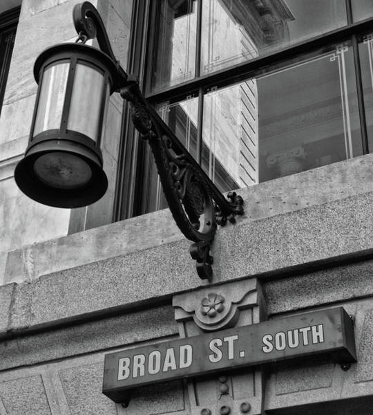 Photograph - Broad St South In Black And White by Bill Cannon