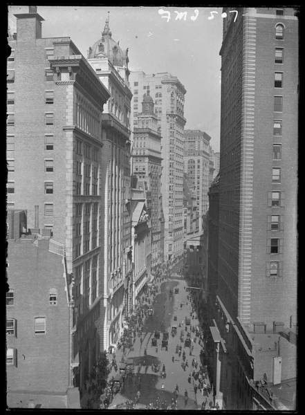 New York Stock Exchange Wall Art - Photograph - Broad Street Looking North by The New York Historical Society