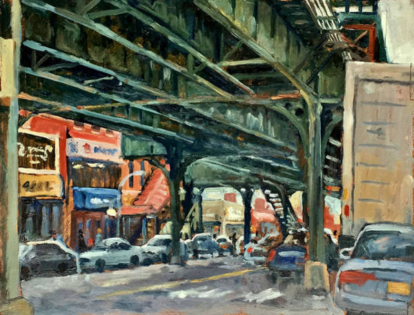 Wall Art - Painting - Broadway And 231 Street Bronx Nyc by Thor Wickstrom