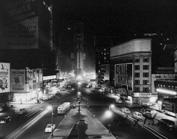 Scriptwriter Photograph - Broadway Blacks Out Its Lights In by New York Daily News Archive