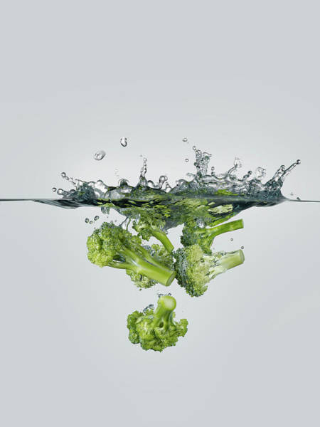 Wall Art - Photograph - Broccoli Splash by Gerenme