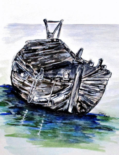 Painting - Broken But Afloat by Clyde J Kell
