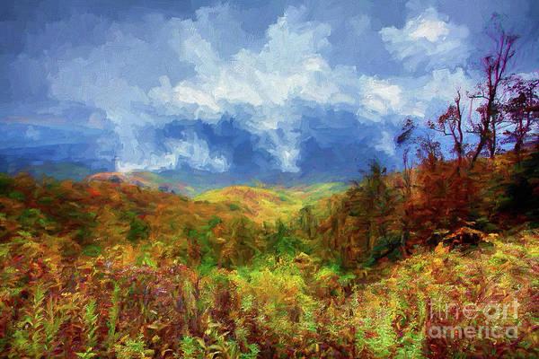 Wall Art - Painting - Broken Clouds Ap by Dan Carmichael