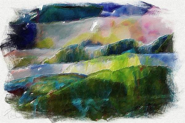Digital Art - Broken Glass Landscape by Patrick Groleau