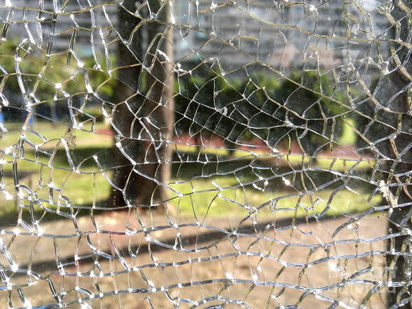 Photograph - Broken Glass Window by Yali Shi