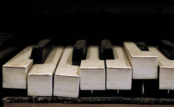 Piano Photograph - Broken Grand Piano Keys by 2010 Copyright Matthew T Rader