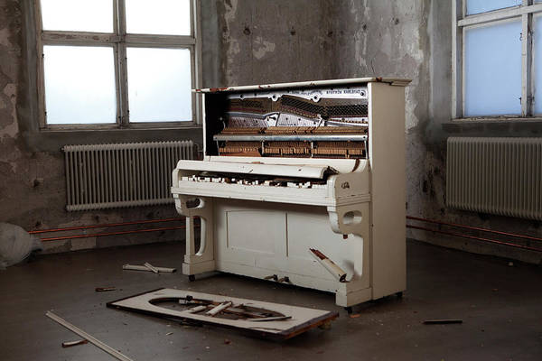 Piano Photograph - Broken Piano by Johner Images