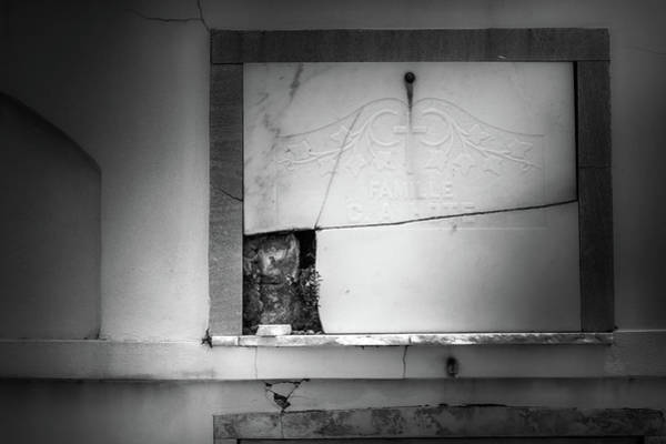 Wall Art - Photograph - Broken Tomb In Black And White by Greg and Chrystal Mimbs