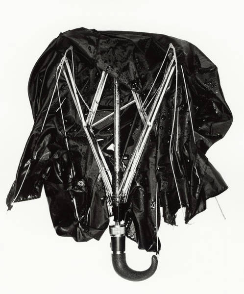 Break Up Photograph - Broken Wet Umbrella by Jon Shireman
