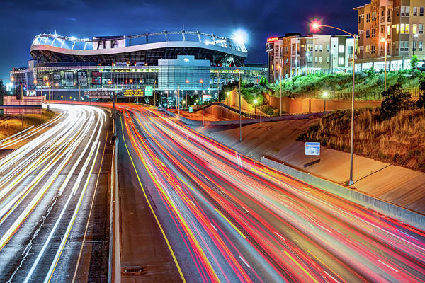 Photograph - Broncos Stadium At Mile High - Colorful Downtown Denver by Gregory Ballos