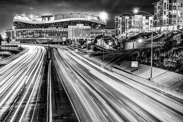 Wall Art - Photograph - Broncos Stadium At Mile High - Downtown Denver Monochrome by Gregory Ballos