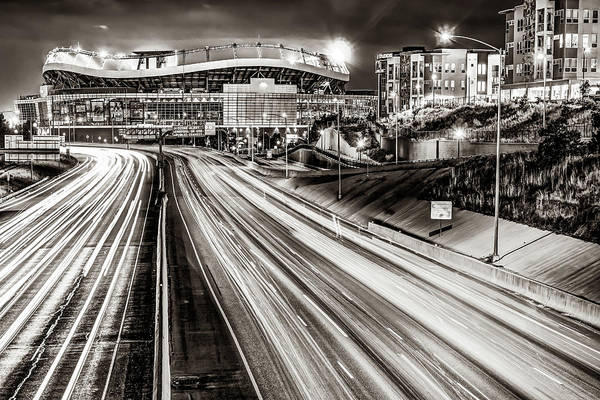 Photograph - Broncos Stadium At Mile High - Downtown Denver Sepia by Gregory Ballos