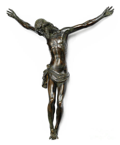 Wall Art - Sculpture - Bronze Crucifixion Sculpture by Giambologna known also as Jean de Boulogne