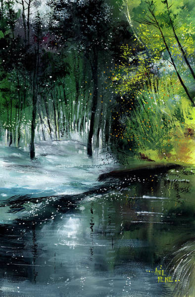 Painting - Brook 2 by Anil Nene