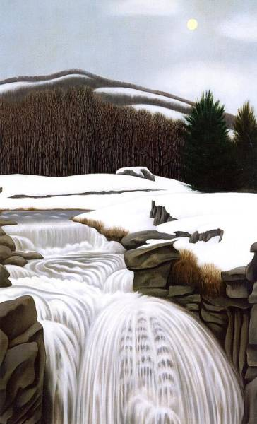 Wall Art - Painting - Brook In The Mountains by George Copeland Ault