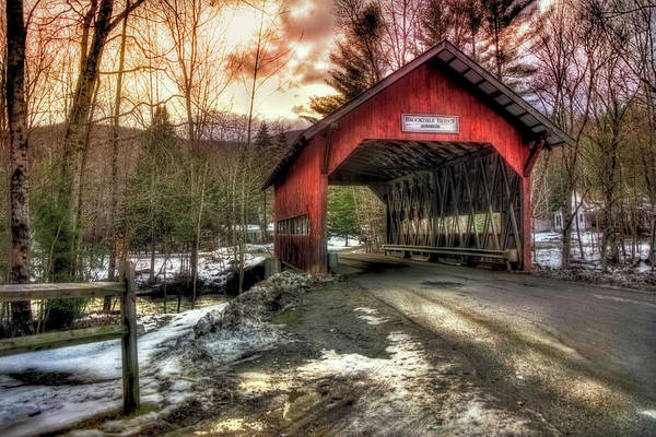 Photograph - Brookdale Covered Bridge - Stowe Vt by Joann Vitali