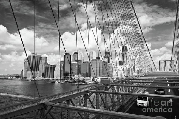 Wall Art - Photograph - Brooklyn Bridge And Manhattan by Delphimages Photo Creations