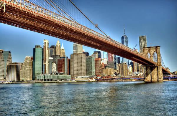 Wall Art - Photograph - Brooklyn Bridge And Manhattan Skyline  by Geraldine Scull