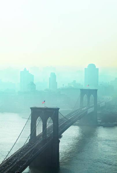 Dawn Photograph - Brooklyn Bridge At Dawn by Johner Images