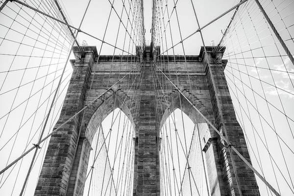Wall Art - Photograph - Brooklyn Bridge Black And White by Stephanie McDowell